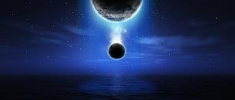 Science fiction sky
