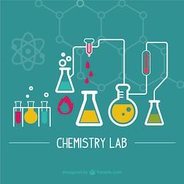 Science laboratory illustration