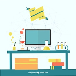 Science office vector template