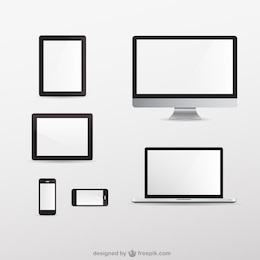 Screens collection free vector