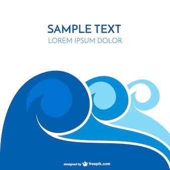 Sea wave template