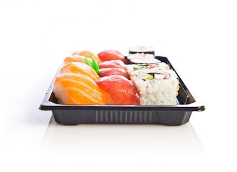 シーフード文化アジアの背景寿司