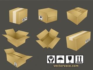 Sealed Beautiful & Opened Shipping Box