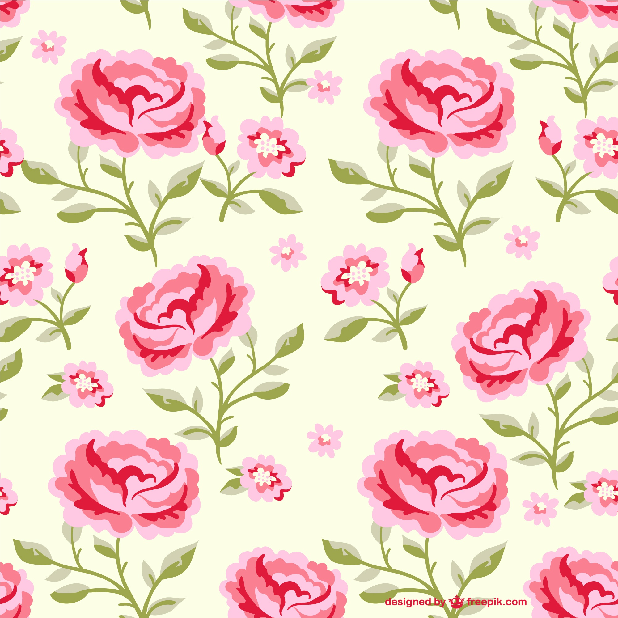 Seamless flowers pattern illustration