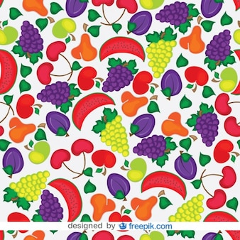 Seamless Fruits Vector Pattern
