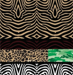 Seamless patterns wild animal backgrounds