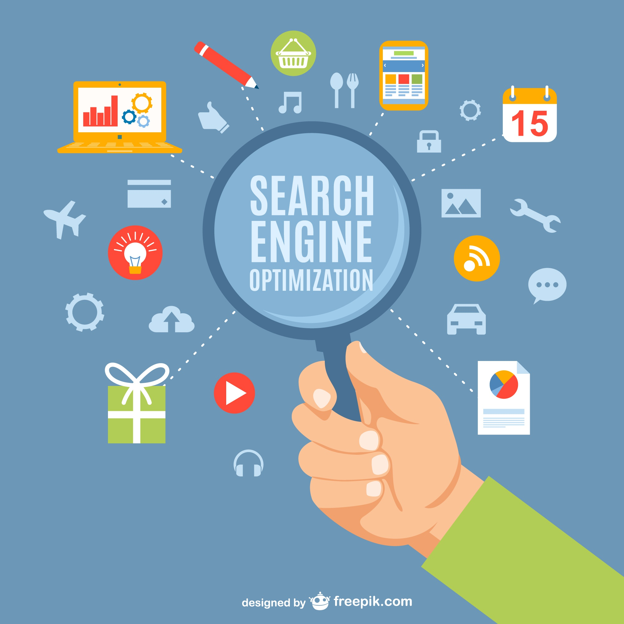 Search engine optimization concept vector