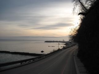 seaside road in varna  bulgaria
