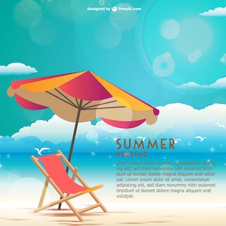 Seaside summer weekend vector