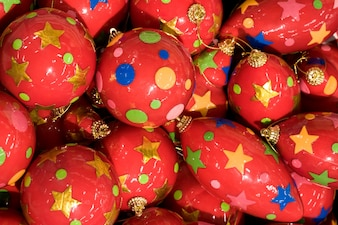 Seasonal red wallpaper ornament merry christmas