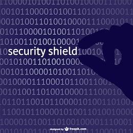 Security shield concept vector