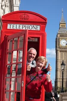 Senior couple visiting london