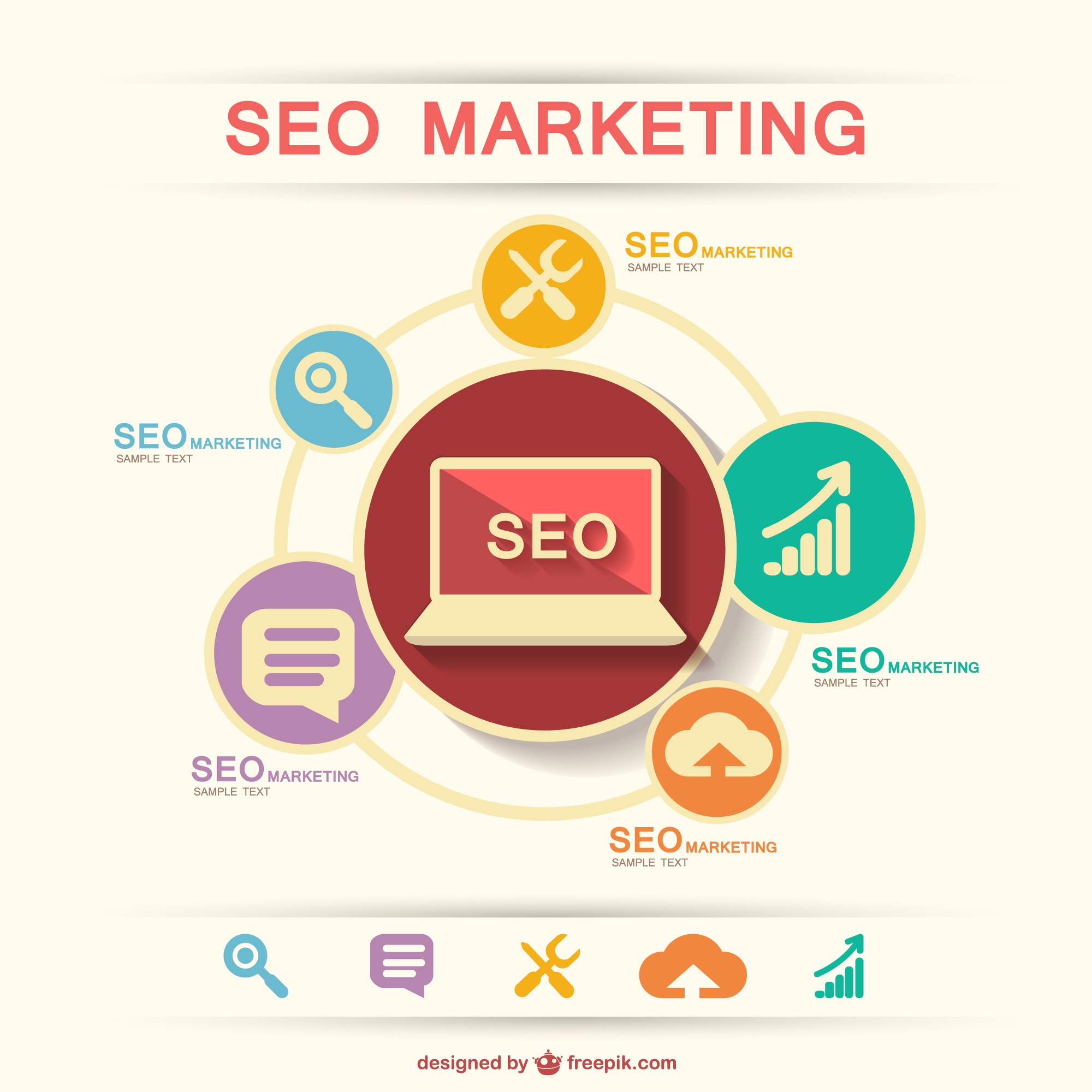 SEO marketing vector template