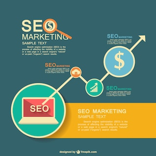 SEO vector flat infographic