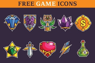 Set of classic game icons