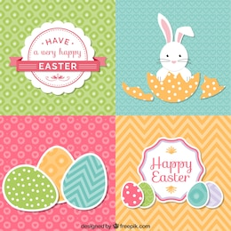 Set of cute easter cards