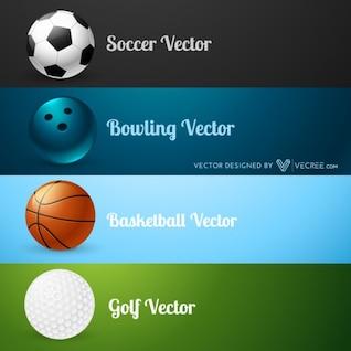 Set of four sport balls