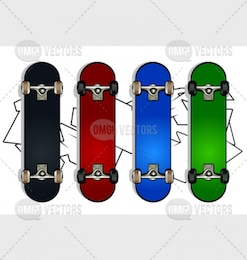 Set of skateboards
