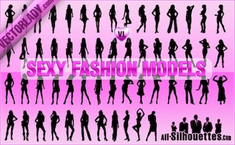 Sexy Fashion Models Silhouettes