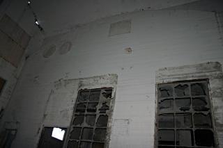Shattered windows, building