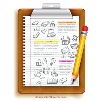 Sheet of paper education template