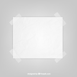 Sheet of paper with sticky tape