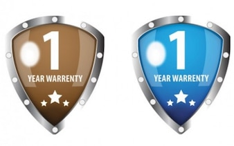 shield metal edge icon of warrenty
