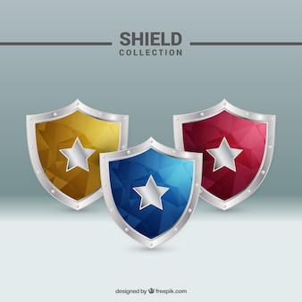 Shields collection in abstract style