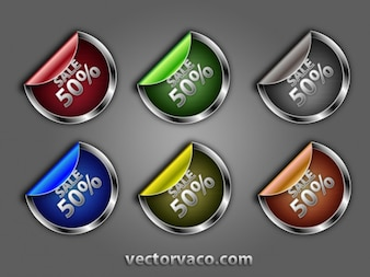 Shinny Colorful Badges