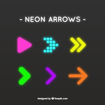 Shiny arrows in abstract style