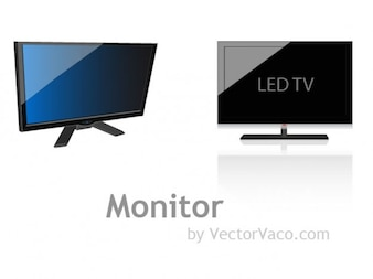 Shiny LED monitor