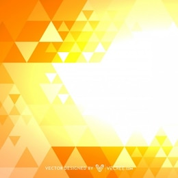 Shiny pattern with golden triangles