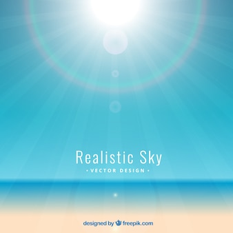 Shiny realistic sky background