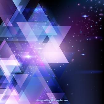 光沢のある三角形の背景