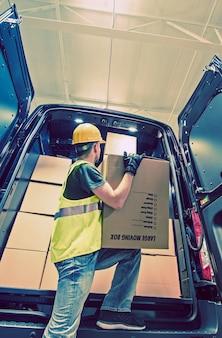 Shipment Van Delivery
