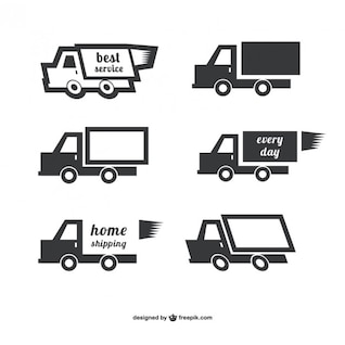 Shipping logo vectors