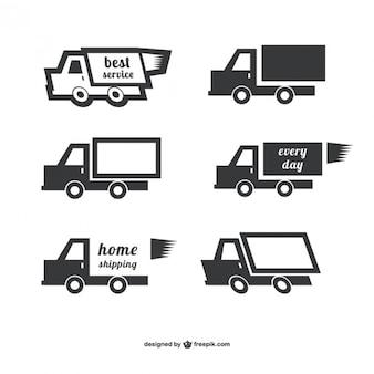 Shipping logo vectors