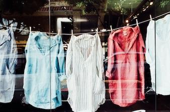 Shirts clothesline