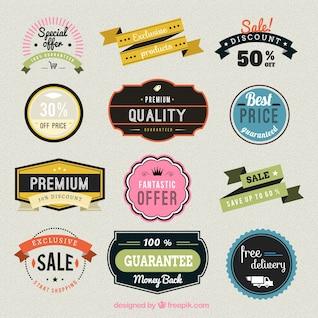 Shop badges collection