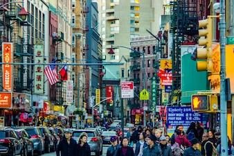 Shop sidewalk afternoon businessman advertisement