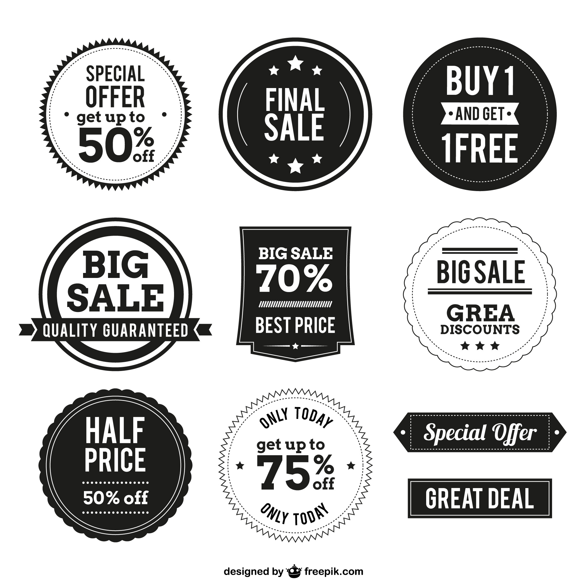 Shopping badges