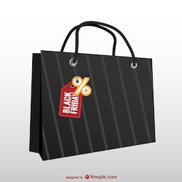 Shopping bag with tag for Black Friday