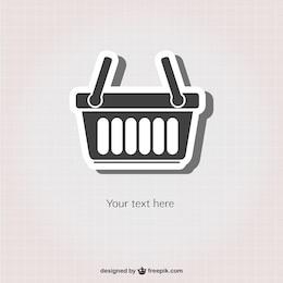 Shopping basket sticker icon