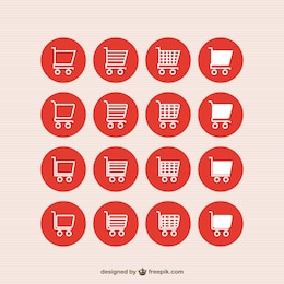 Shopping cart vector icons