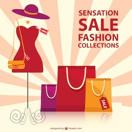 Shopping fashion vector template