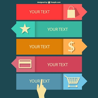 Shopping flat infographics design