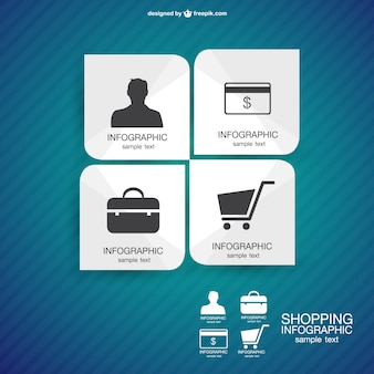 Shopping infographic design