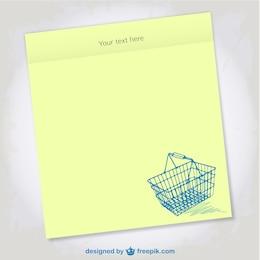 Shopping list vector design