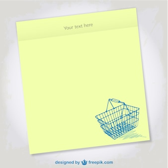Shopping list vector design