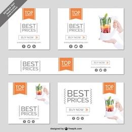 Shopping online minimalist banner
